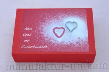 6. Hochzeitstag - Zuckerhochzeit - Geschenkverpackung