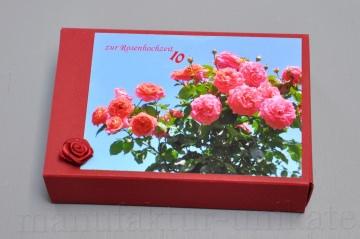 10. Hochzeitstag - Rosenhochzeit - Geschenkschachtel