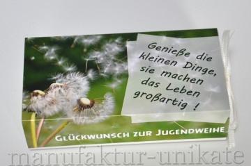 Jugendweihe - Geschenkverpackung Geldgeschenk - Zitat
