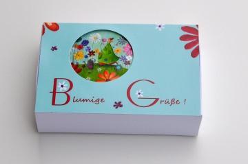Geschenkschachtel Geldgeschenk mit Magnet - Blumen
