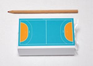 Geschenkschachtel - Geldgeschenk - Handball Handballfeld