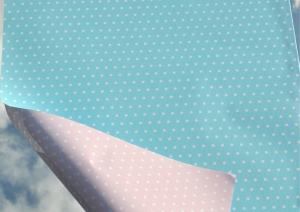 Geschenkpapier - ROSA und HELLBLAU - Meterware 50 cm breit - Länge nach Wunsch zur Geburt oder Taufe