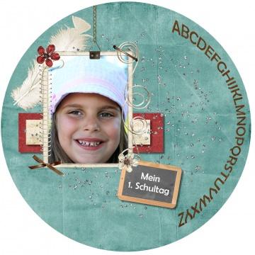 ESSBARES TORTENBILD TORTENAUFLEGER Fotobild Motivtorte mit Wunschtext und Foto Einschulung Schulkind Schulanfang