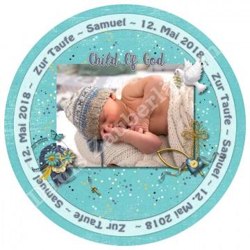 Meine Taufe  - Tortenbild Tortenaufleger Fotobild Motivtorte essbar mit Wunschtext und Foto