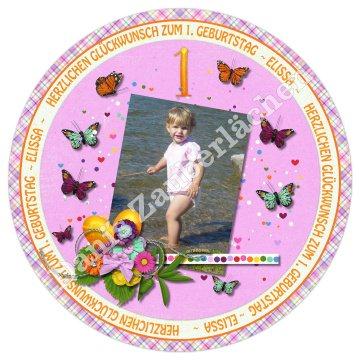 ESSBARES TORTENBILD TORTENAUFLEGER Fotobild Motivtorte mit Wunschtext und Foto Geburtstag Kindergeburtstag runder Geburtstag
