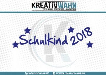 SCHULKIND 2018 Schule STERN Sterne Bügelbild