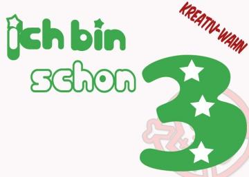 ICH BIN SCHON 1 2 3 4 5 6 Bügelbild Geburtstagszahl Geburtstag