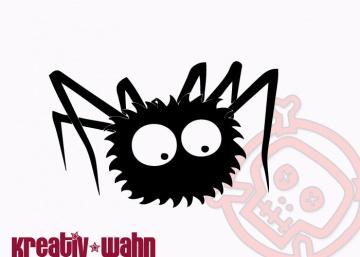 Spinne Tiere Bügelbild Kinderbügelbild Farbwahl Flexfolie Flockfolie Kreativwahn