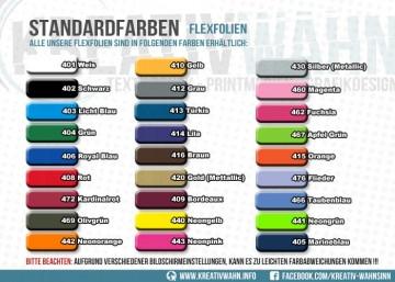 FLEXFOLIE 3 Bögen Viele schöne Farben Farbwahl Kreativwahn Plotterfolie
