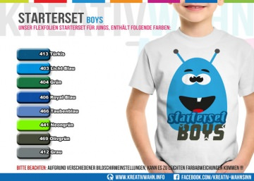 FLEXFOLIE Starterset Boy Jungs Kreativwahn Plotterfolie
