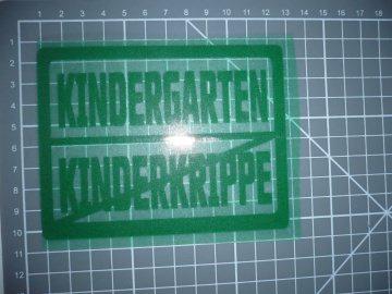 Bügelbild Kindergarten kinderkrippe Tafel SALE Applikation