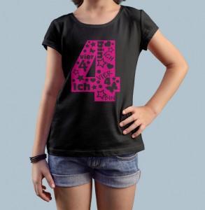 Geburtstagsshirt Ich bin 4 Happy G&B Shirt Kindergeburtstag Geburtstag T-Shirt Größe 116