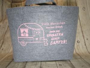 Filztasche Shopper mit Motiv Camper  - Handarbeit kaufen