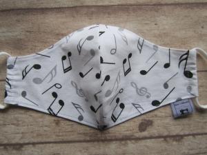 Behelfsmaske für Mund und Nase   (Frauen/Kinder ab ca. 11 J)     Musik Noten