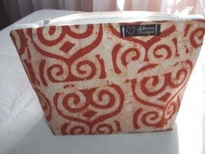 Kleine Tasche genäht im afrikanischen Style in Natur und Terrakotta Farben kaufen - Handarbeit kaufen