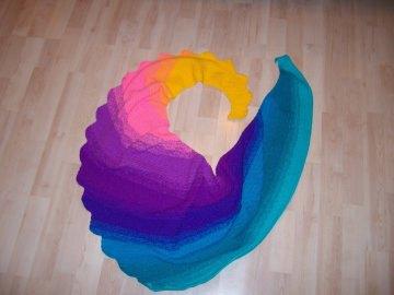 Drachenschwanz/ Drachenschal schön bunt, leuchtende Farben