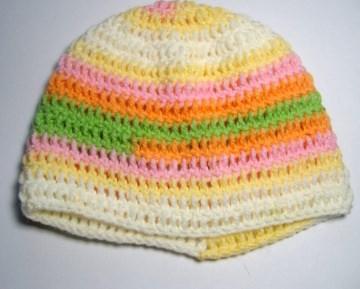 Babymütze KU 37 cm, Pastellfarben, für Mädchen
