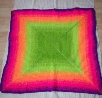Babydecke/ Kinderwagendecke, leuchtende Farben , 74 x 74 cm