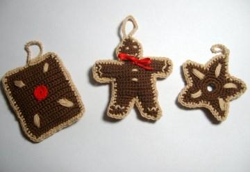 Weihnachtsanhänger Lebkuchen, niedlich, 3 Stück