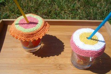 2 Stück Glasabdeckung, Insektenschutz für Trinkgläser