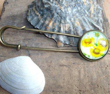 Tuchnadel/ Kiltnadel Sonnenblumen, wunderschön - Handarbeit kaufen