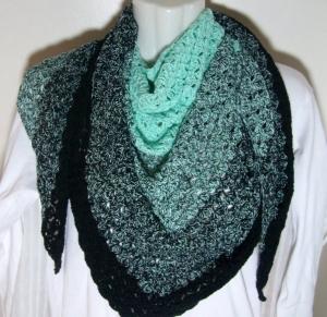 Dreieckstuch/Schultertuch/Stola, tolle Farben, 50%Baumwolle - Handarbeit kaufen