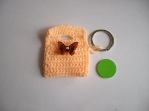 Chiptäschchen für dem Schlüsselbund Schmetterling mit Chip