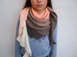Drachenschwanz/ Drachenschal in dezenten Pastellfarben 50% Baumwolle - Handarbeit kaufen