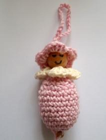 Anhänger Wichtel/Frühlingswichtel/Blumenwichtel in rosa - Handarbeit kaufen