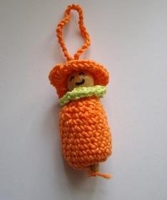 Anhänger Wichtel/Frühlingswichtel/Blumenwichtel in orange - Handarbeit kaufen