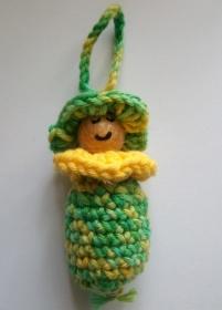 Anhänger Wichtel/Frühlingswichtel/Blumenwichtel in gelb-grün - Handarbeit kaufen