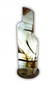 Exklusiv: Spiralförmige (Schneckenform) handgearbeitete Deko Leuchte (Unikat) aus mexikanischem Onyx Marmor (Naturstein) in ONYX