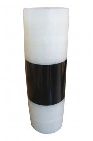 Weiss / Schwarze  Blumenvase 40cmx15cm aus Onyx Marmor