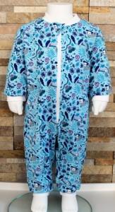 Babyschlafanzug / Strampler / Baby / Faultier / blau / lila / Halalino