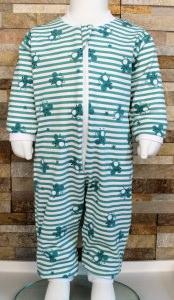 Babyschlafanzug / Strampler / Baby / Maus mint gestreift / Halalino