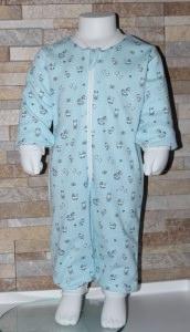 Babyschlafanzug / Strampler / Baby / Schaukelpferd / blau / Halalino
