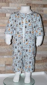 Babyschlafanzug / Strampler / Baby /Zoo / blau / Tiere / Halalino