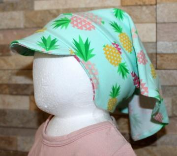 Haartuch / Babyhaartuch / Kopfbedeckung / Haarband / Sonnenschutz / Ananas Größe 2 / Halalino