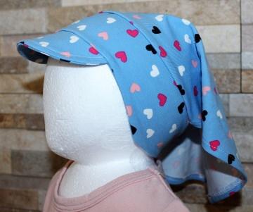 Haartuch / Babyhaartuch / Kopfbedeckung / Haarband / Sonnenschutz / Herzen Größe 2 / Halalino
