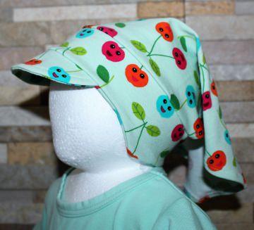 Haartuch / Babyhaartuch / Kopfbedeckung / Haarband / Sonnenschutz / Kirschen Größe 1 / Halalino