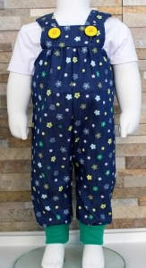 Latzhose Jeans Blumen / Babyhose / Größe 62-68 / Halalino