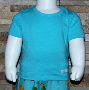 T-Shirt, Babyshirt, Shirt, unifarben, einfarbig, Halalino, hellblau