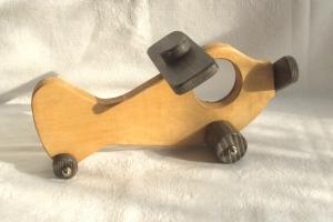 Handgefertigtes Flugzeug aus Holz für Kinder -Deutsche Handarbeit- - Handarbeit kaufen