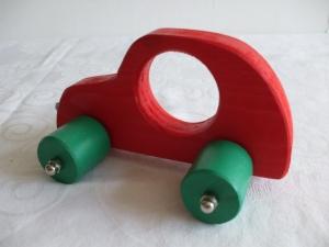 Handgefertigtes Spielzeugauto aus Holz für Kinder, zum Nachziehen und Schieben -Deutsche Handarbeit- - Handarbeit kaufen