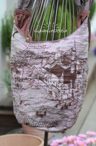 ♡ bequeme Sling-Tasche aus Tragetuch, Einzelstück! ♡