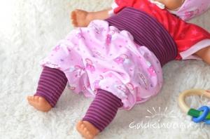 ♡ Babyhose Schutzengel rosa Mitwachshose Pumphose
