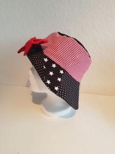 ★  Clownhut in schwarz-rot-weiß ★ Karnevalshut★ zum Wenden★ 4 verschiedene Variationen★