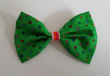 Stoffschleife für Clownhut ★ Karnevals Haarschmuck★ mit Anstecknadel★