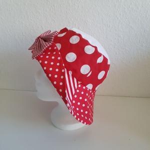 ★ Clownhut rot-weiß ★ Karnevalshut★ zum Wenden★ 4 verschiedene Variationen★