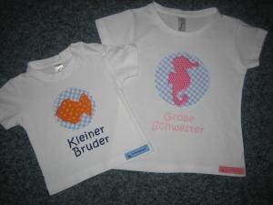 Geschwister Shirts im Set - große Schwester, kleiner Bruder